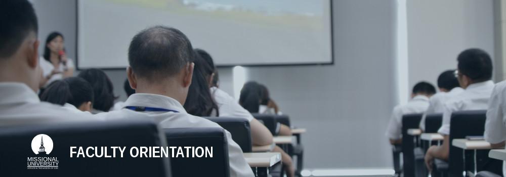 Faculty Orientation